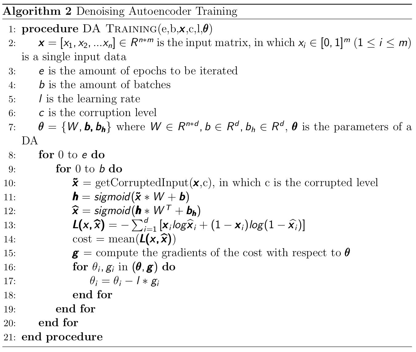 stacked denoising autoencoder codec